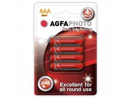 Zinková baterie AgfaPhoto R03/AAA, 1,5 V, blistr 4 ks