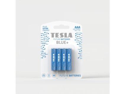 Zinková baterie Tesla BLUE+ R03/AAA, 1,5 V, blistr 4 ks