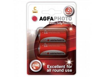 Zinková baterie AgfaPhoto R14/C, 1,5 V blistr 2 ks