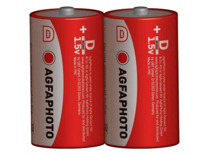 Zinková batéria AgfaPhoto R20/D, 1,5 V, 2 ks