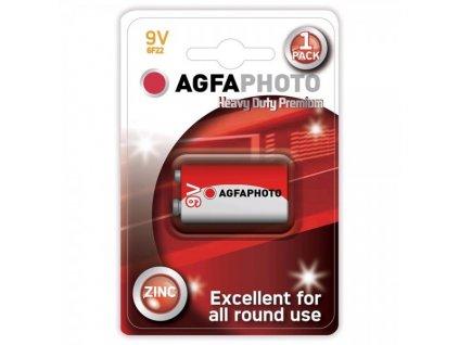 Zinková baterie AgfaPhoto 9 V, blistr 1 ks