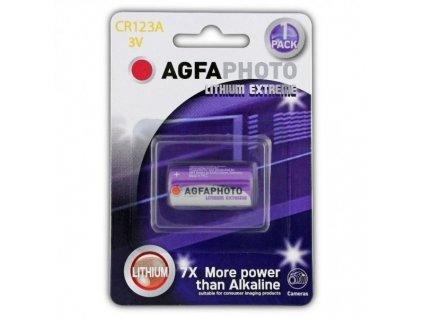 Lithiová fotobaterie AgfaPhoto CR123A, 3 V, blistr 1 ks