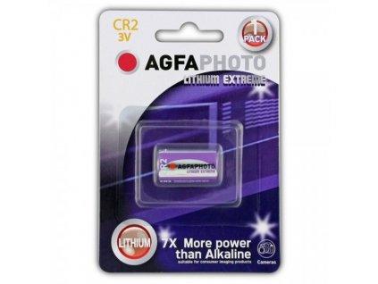 Lithiová fotobaterie AgfaPhoto CR2, 3 V, blistr 1 ks