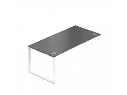 Stůl Creator 180 x 90 cm, bílá podnož, 1 noha / Wenge