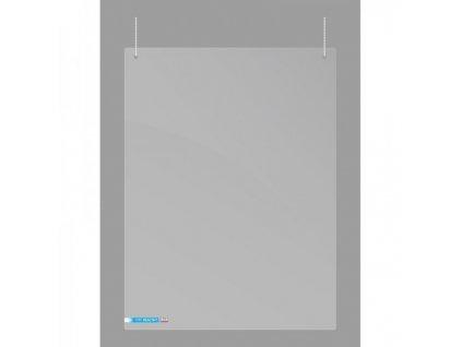 Závěsná plexi stěna 100 x 65 cm