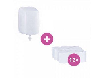 AKCE: Zásobník na papírové ručníky v rolích Merida Hygiene Control FLEXI + ručníky