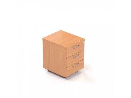 Kontejner Visio 52 x 43 cm - 3 zásuvky / Buk