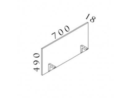 Paraván Visio 70 x 1,8 x 49 cm - výprodej / Javor