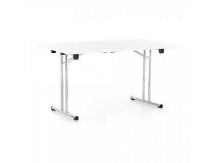 Skládací stůl 140 x 80 cm / Bílá