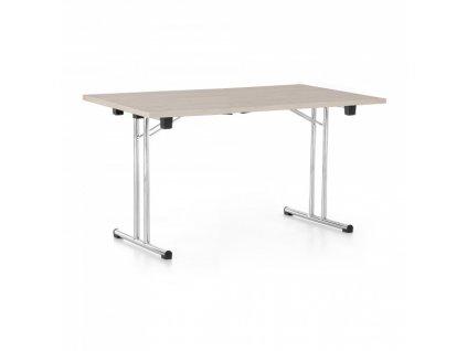 Skládací stůl 140 x 80 cm / Dub