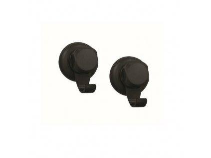 Háčky do koupelny Compactor Bestlock Black, 2 ks / černá
