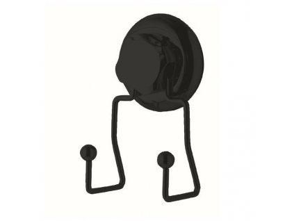 Dvojitý háček do koupelny Compactor Bestlock Black / černá