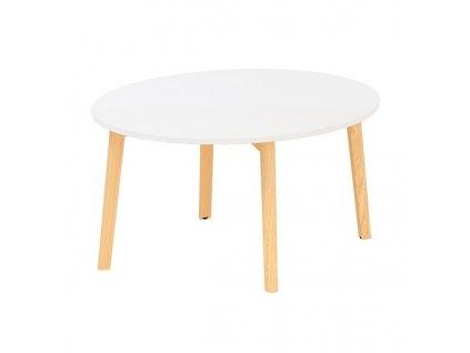 Konferenční stolek Alfa Root 90 x 90 cm / bílá