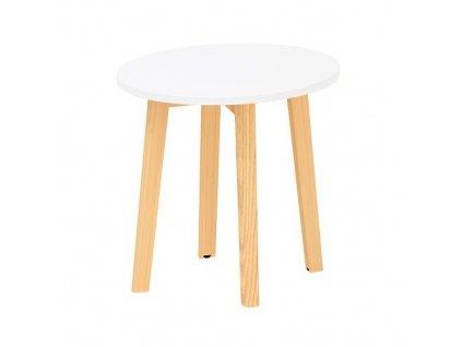 Konferenční stolek Alfa Root 50 x 50 cm / bílá