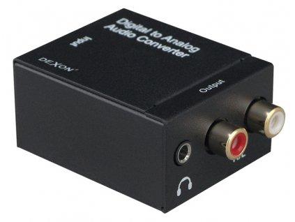 DEXON Konvertor S/PDIF Coaxial + TOS-Link / RCA audio NS 71