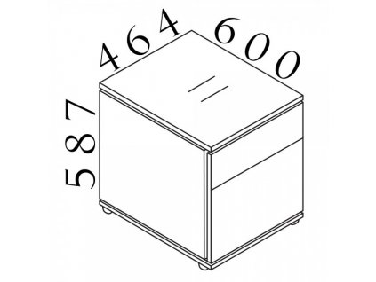 Kontejner Creator 46,4 x 60 cm, mobilní
