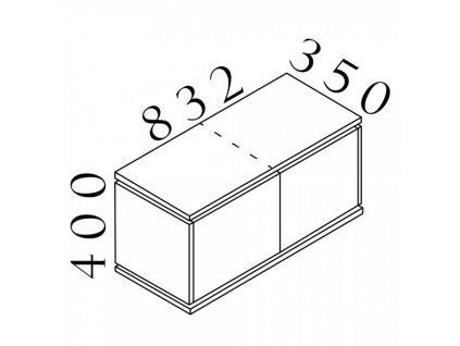 Závěsná skříň Creator 83,2 x 35 x 40 cm