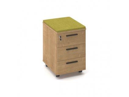 Kontejner ProX 50,4 x 40,8 cm - 3 zásuvky, čalouněný