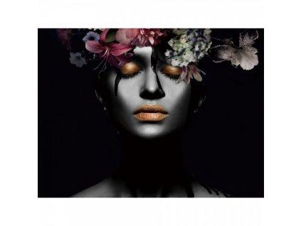 Obraz Flower Woman III 80 x 80 cm