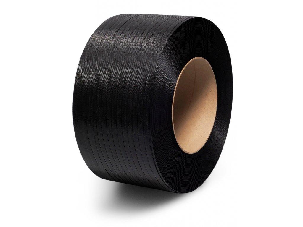 Polypropylenová páska šíře 12 mm (Vázací páska PPE12702500C20S-rozměr 12x0.70mm, pevnost 2000N, návin 2.55 km, dutinka 200x190 mm, váha cívky 11.25 kg)