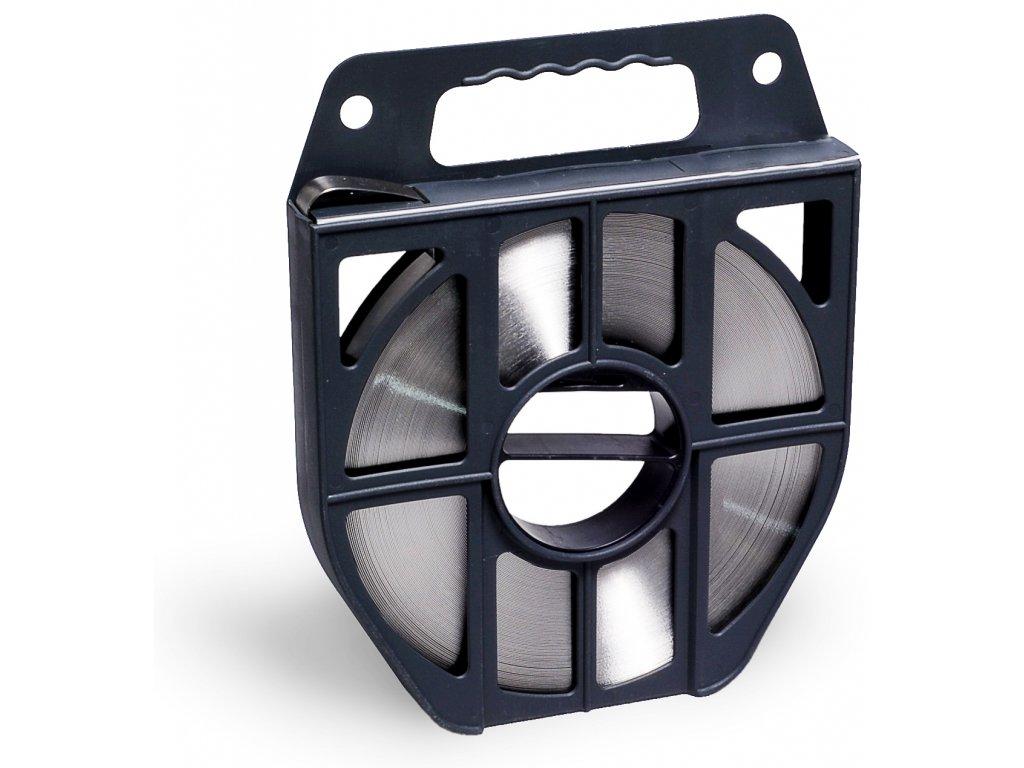 Nerezová páska BANDIMEX - Lehká,  9.5-19x0.4 mm, 50m (Vázací páska BANDIMEX B 836 B50 - 19,0x0,4mm  (šířka x tloušťka), návin 50m)