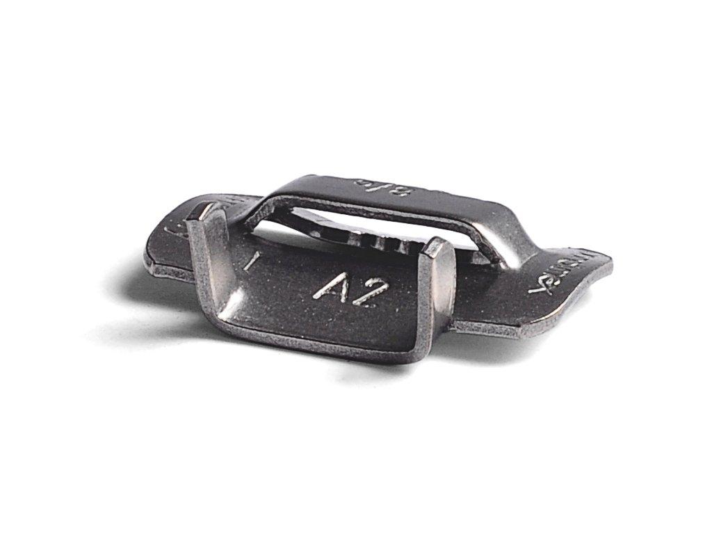 Nerezové spony BANDIMEX - střední, šíře 6.4-19 mm (Spony BANDIMEX -S 256 - šíře 19,0mm, 100 ks/bal)