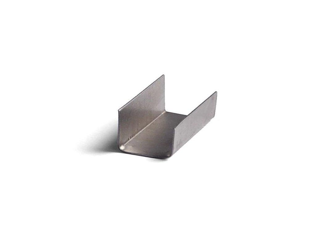 Plechová spona - hladká (Spony 205500 - plechová, hladká, š.d.tl. 16x24x0.4 mm, 2000 ks/balení)