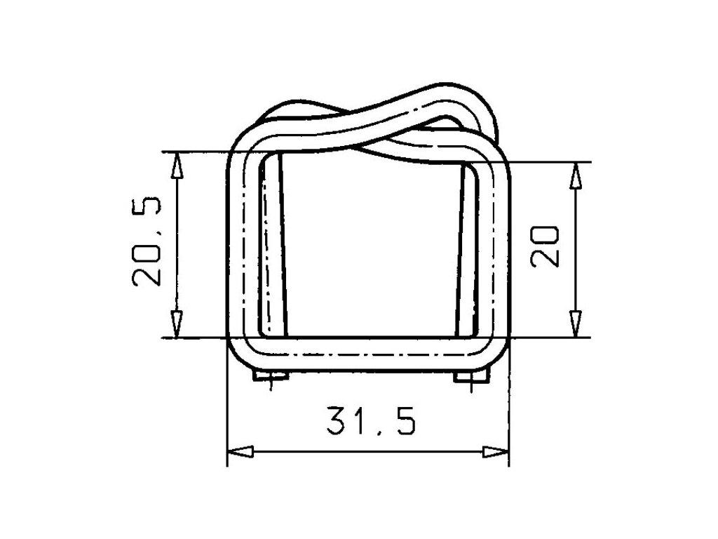 1242 dratena spona sire 19 mm
