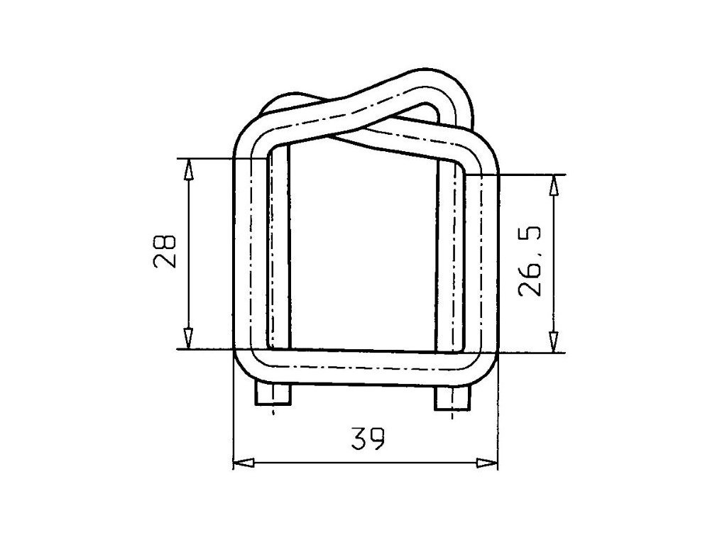 1245 dratena spona sire 25 mm