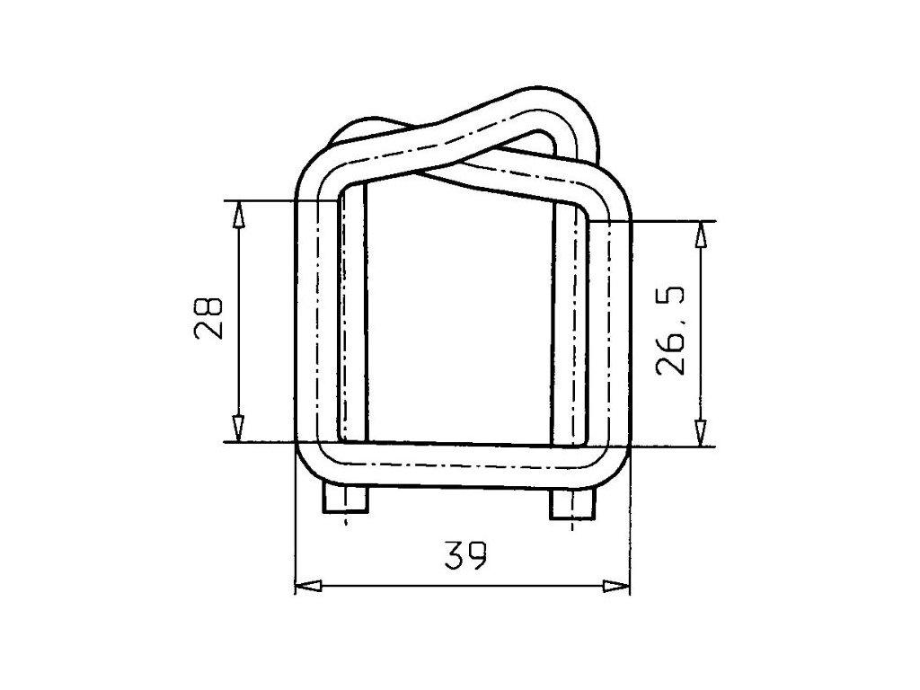 1266 fosfatovana dratena spona 25 mm