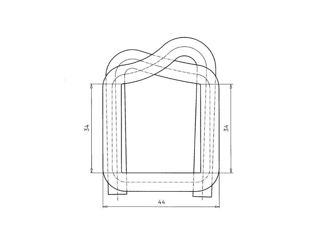 1269 fosfatovana dratena spona 32 35 mm