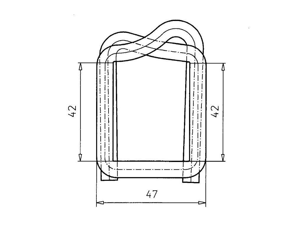 1272 fosfatovana dratena spona 35 40 mm