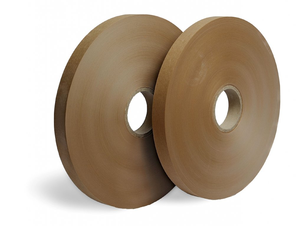 Hnědá papírová páska - Ultrazvukový svár (Vázací páska PB9075PP800C 75 mm 800 m 90 g / m² 76 mm 4 ks 30 ks US)