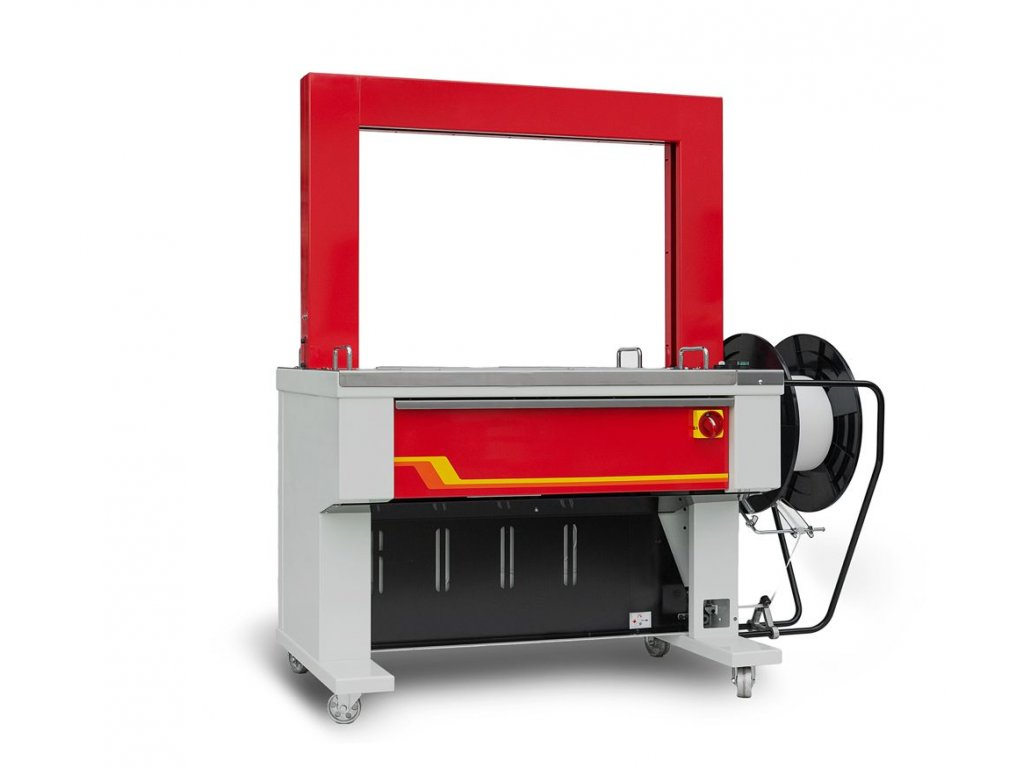 Páskovací stroj TP-601D (Páskovací stroj TP 601D s rámem o rozměru š.850x v.600 mm, pro šíři pásky 12 mm)