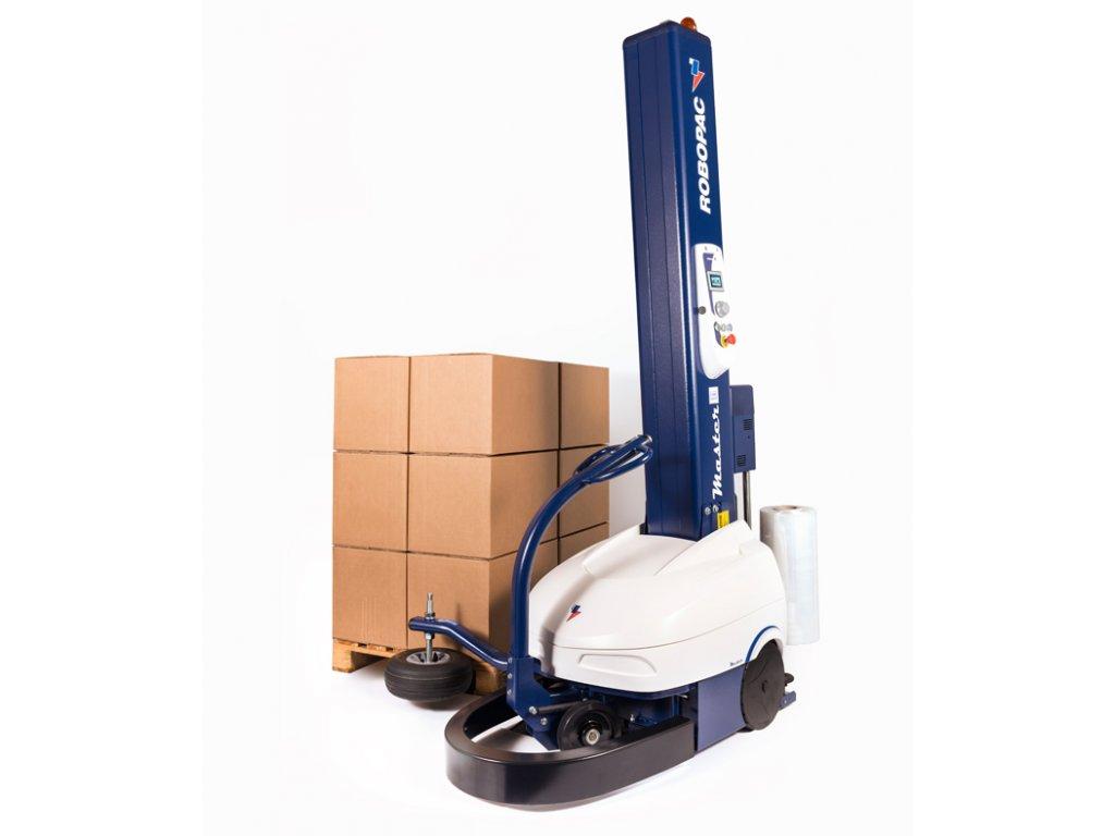 Ovinovací robot MASTER PLUS (Ovinovací stroj ROBOT MASTER PLUS M80 FRD - s jednotkou FRD pro mechanické napínání fólie a mechanické ovládání napínání a baterií  M80 - 2 da 1)