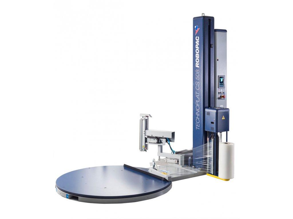 Ovinovací stroje TECHNOPLAT CS a CW (Ovinovací stroj TECHNOPLAT CW PVS - se svařovací jednotkou CW, s variabilním předepínáním fólie 0-400% a ovládáním napínání i předepínání z ovlá)