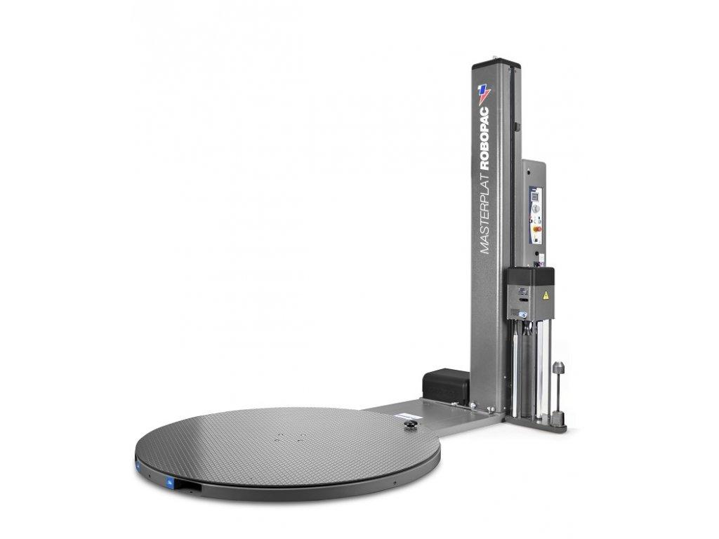 Nerezový ovinovací stroj MASTERPLAT PLUS INOX (Ovinovací stroj MASTERPLAT PLUS INOX PGS - s fixním předepínáním fólie 250% a ovládáním napínání z ovládacího panelu)