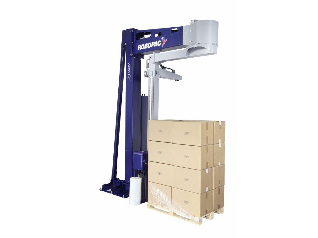 Rotující rameno ROTARY (Ovinovací stroj ROTARY PVS - s variabilním předepínáním fólie 0-400% a ovládáním napínání i předepínání z ovládacího panelu)