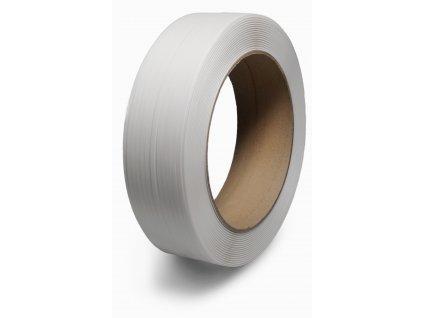 Polypropylenová páska - šíře 12 mm, dutinka 406 mm (Vázací páska PPE12702200C40S- rozměr 12x0.70mm, pevnost 2000N, návin 2.2 km, dutinka 406x150 mm, váha cívky 9.9 kg)