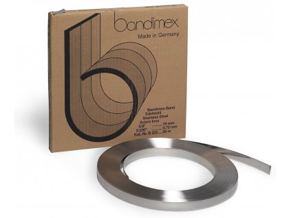 Nerezová páska BANDIMEX - Střední,  9.5-19x0.75 mm (Vázací páska BANDIMEX B 206 - 19,0x0,75mm (šířka x tloušťka), návin 30m)