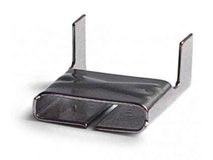 Nerezové sponky BANDIMEX - lehké, šíře 9.5-19 mm (Spony BANDIMEX -S 156 - šíře 19,0mm, 100 ks/bal)