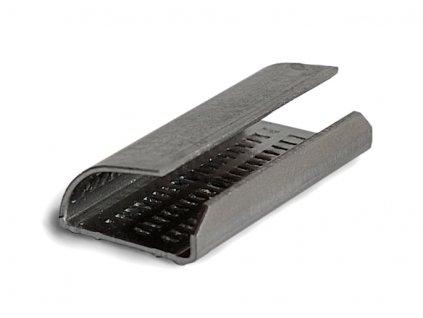 Pevnostní spona UNIPACK (Spony 200700 - pro vázací pásky šíře 15-16 mm, rozměr spony š.d.tl. 16x30x0.8 mm, 1600 ks/bal.)