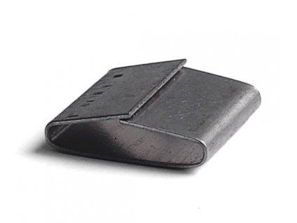 Kovová spona - šíře 13 mm (Spony 206200 - ocelová, uzavřená, š.d.tl. 13.7x22x0.6 mm, 2000 ks/balení)