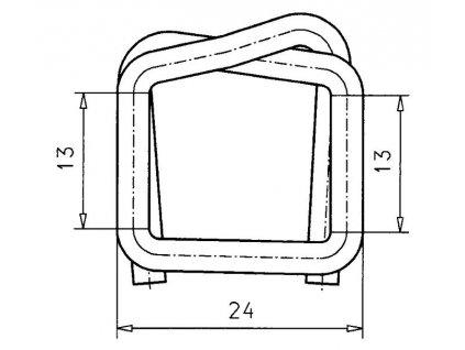 1257 fosfatovana dratena spona 13 mm