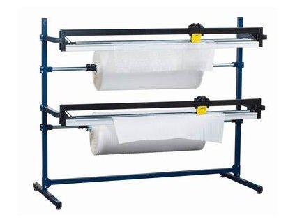 Řezací stojan fólie - dvojitý (Odvíječ fólie H150-D - max.šíře fólie 1500 mm, celkové rozměry š.d.v. 1880x830x1610 mm)