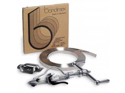 Sada pro kotvení BANDIMEX (Sada BANDIMEX 20 - Bandimex páska B136 19x0.4 mm 30m, Bandimex spony S256 19mm 100ks, Upínák US 30)