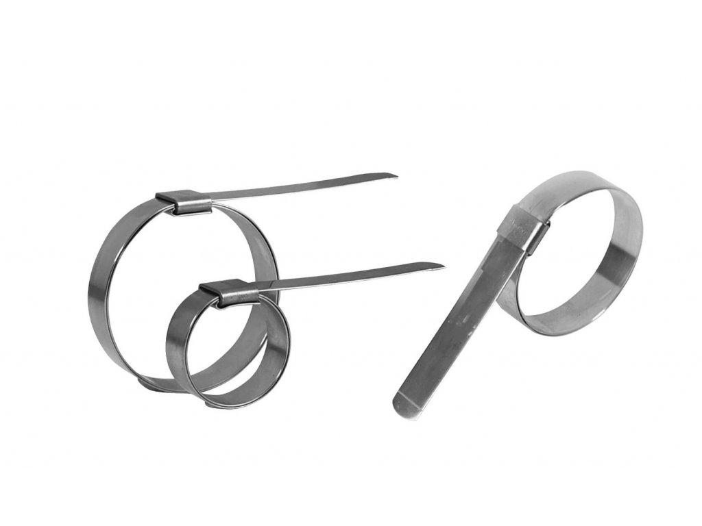 Nerez pásky BANDIMEX BABY - 8x0.3 mm, různé délky (Vázací páska BANDIMEX BABY - M 880 - 840x8,0x0,3mm)