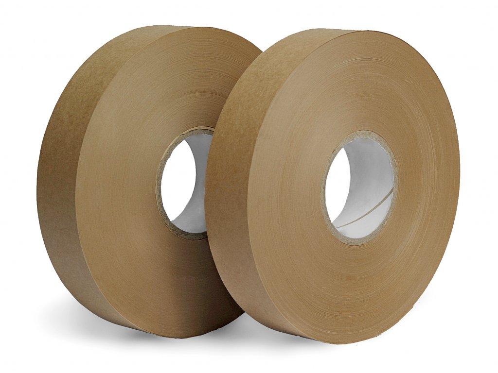 Hnědá papírová páska - Tepelný svár (Vázací páska PB8030150C 30 mm 150 m 80 g / m² 50 mm 50 ks 30 ks MS)
