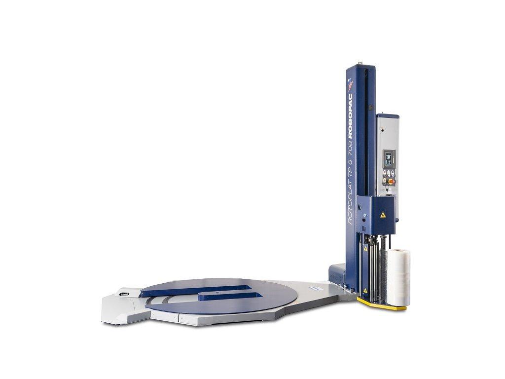 Ovinovací stroj ROTOPLAT TP3 (Ovinovací stroj ROTOPLAT PVS TP3 - s variabilním předepínáním fólie 0-400% a ovládáním napínání i předepínání z ovládacího panelu)