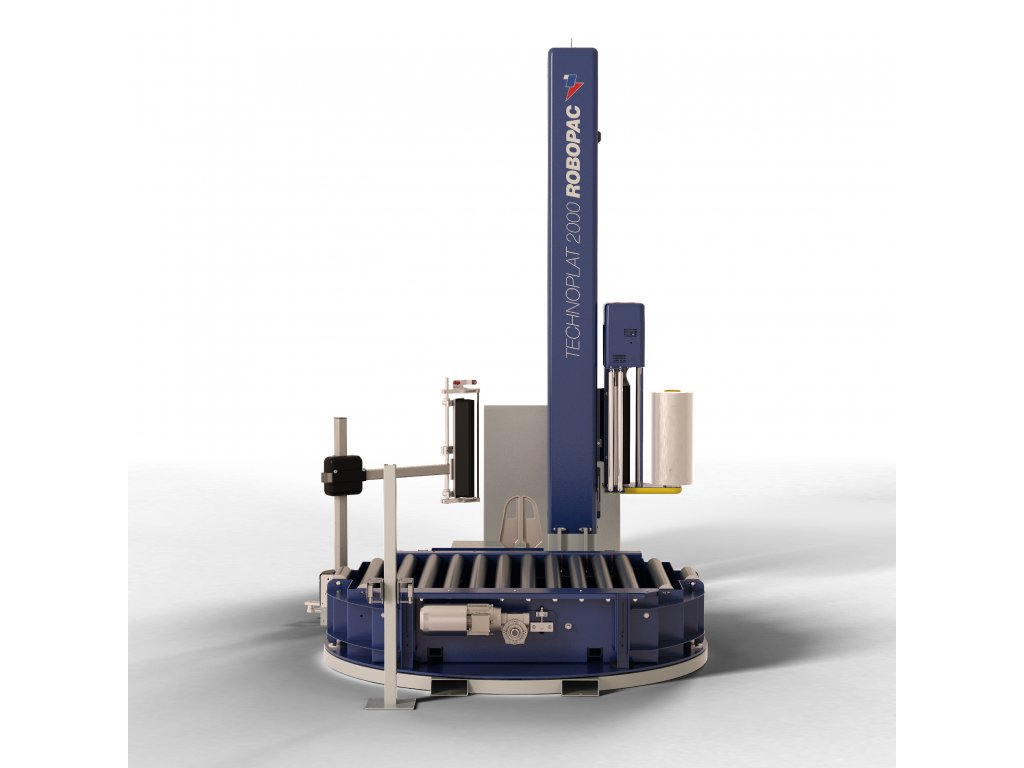 Ovinovací staniceTECHNOPLAT 2000 (Ovinovací stroj TECHNOPLAT 2000 PVS - s variabilním předepínáním fólie 0-400% a ovládáním napínání i předepínání z ovládacího panelu)